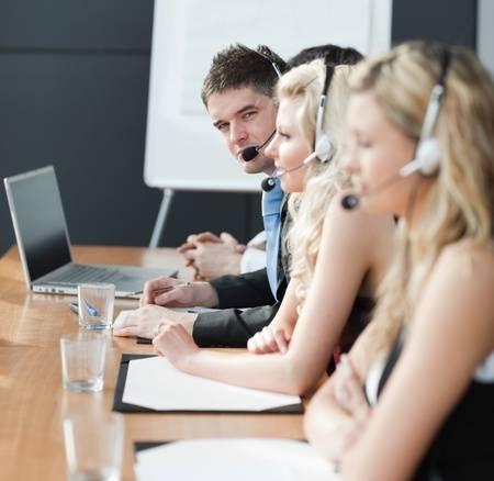 10110234-business-team-dans-un-centre-d-appel